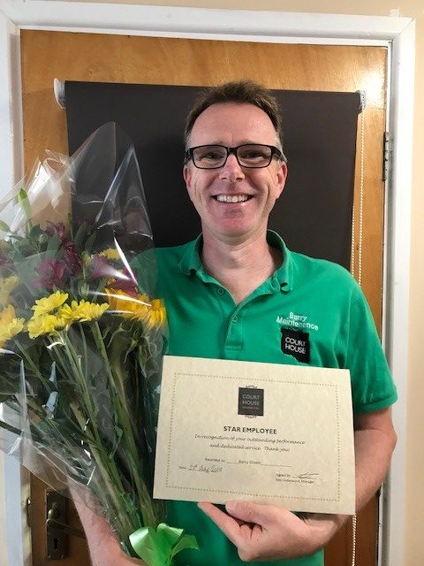 Barry Green wins Star Employee Award for August 2018